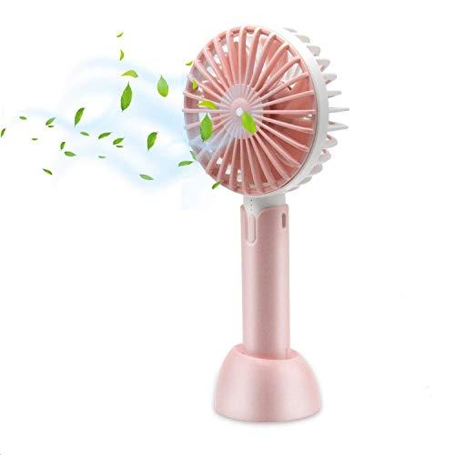 HOTLIFE Mini Ventilator Handventilator Tragbarer Mini USB Lüfter mit 18650 mAh Aufladbarem Batterie Beweglicher 3 einstellbare Geschwindigkeiten Personal Fan für Indoor und Outdoor Aktivitäten (Pink) - Outdoor-fan Klingen