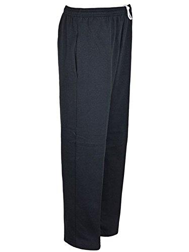 Super Save Direct uk - Pantalón de chándal, para hombre, grande, forro polar, para correr o ir al gimnasio, estilo casual, dobladillo abierto Negro negro 7XL