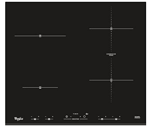 Whirlpool ACM 932/BF Plaque (intégrée, induction, céramique, boutons tactiles sur le devant, 230 V) Noir