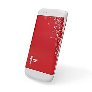 BigBlue 3 in 1 USB 6000mAh aufladbarer Handwärmer Powerbank mit LED Taschenlampe, Weihnachtsversion