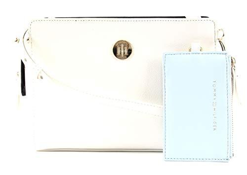 Tommy Hilfiger Damen Handtasche Schultertasche Charming Tommy Crossover Weiß