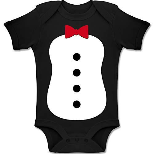 Shirtracer Karneval und Fasching Baby - Pinguin Karneval Kostüm - 12-18 Monate - Schwarz - BZ10 - Baby Body Kurzarm Jungen Mädchen