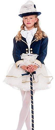 Kostüm Tanz Kinder Matrosen - Fancy Me Italienische Herstellung Mädchen Deluxe 1920s Jahre Schick Damen Matrose Tanz Truppe mit Stock Karneval Kostüm Kleid Outfit 3-11 Jahre - 3 Years