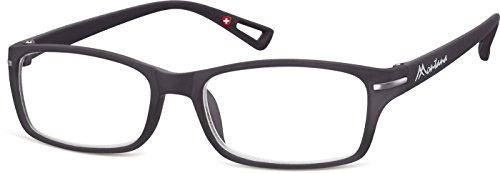 Montana Eyewear Sunoptic MR76 +2.50 Lesebrille in schwarz, inklusive Softetui, transparent