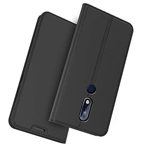 FugouSell Cover Nokia 3.1 Plus (Nokia X3), Custodia Ultra Sottile e Leggere, Slim Smart Case con Funzione Auto Sleep per Nokia 3.1 Plus (Nokia X3)(Nero)