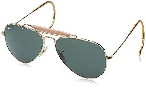 Ray-Ban Outdoorsman Oro-Verde Clásica G-15- Gafas