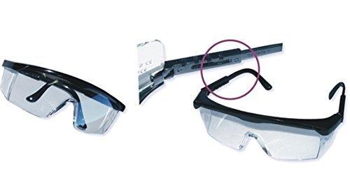 12 x Schutzbrille Brille Arbeitsbrille Teleskopbügel Gesichtsschtz Nach DIN EN 166