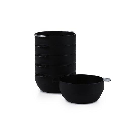 6er-Suppenteller- und Müslischalen-Set für Haushalt, Camping und Picknick, ø 13 cm, stabil, bruchfest, stapelbar, mikrowellen- und spülmaschinenfest