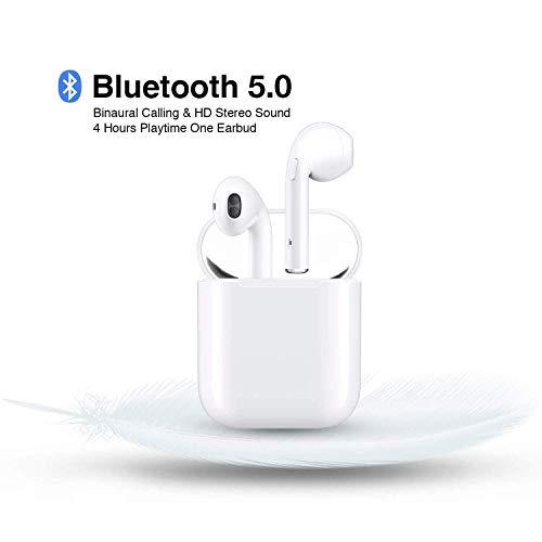 True Wireless Kopfhörer Bluetooth 5.0 TWS In-Ear Bluetooth Headset und Integriertem Mikrofon Mini Ohrstöpsel mit 15H Playtime Ladehülle für Apple, AirPods, iPhone/Android/iPad - Apple Ohrhörer Ipad Mini