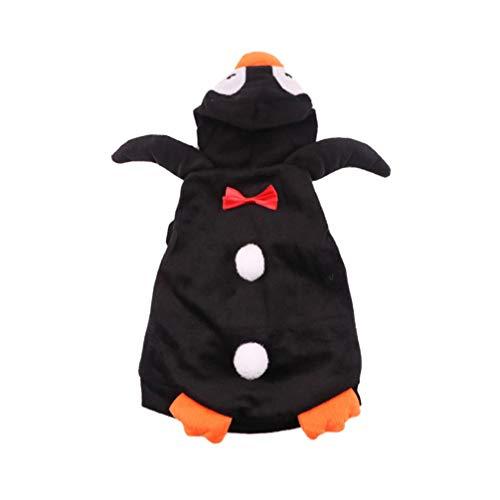 Kostüm Welpe Pinguin - Balacoo Hund Pinguin Kleidung Halloween Katzen Kostüm Lustige Hundekleidung für Welpen Kleine Hunde Haustier Weihnachten Oberbekleidung