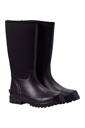 Mountain Warehouse Mucker Womens Neoprene Long Boots - Waterproof Ladies Wellies, Easy Wipe Wellington Boots, Sturdy Grip Shoes - Best for Walking, Outdoor
