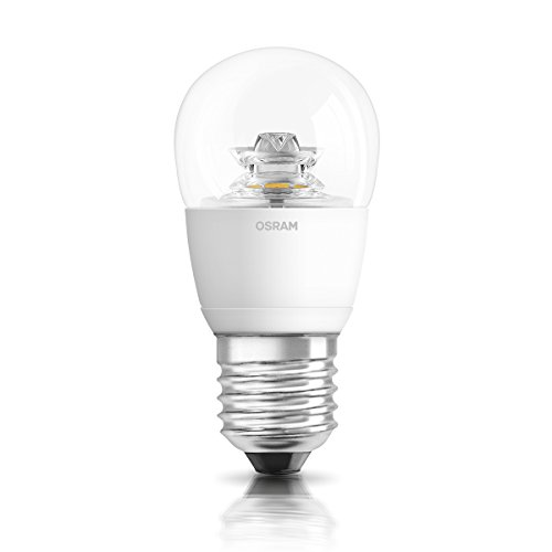 OSRAM LED SUPERSTAR Ampoule LED, Forme sphérique, Culot E27, Dimmable, 6W Equivalent 40W, 220-240V, claire, Blanc Chaud 2700K, Lot de 1 pièce