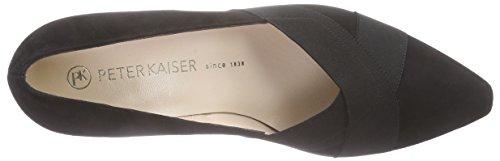 Peter Kaiser Malana, Chaussures à talons - Avant du pieds couvert femme Noir - Schwarz (SCHWARZ SUEDE 240)