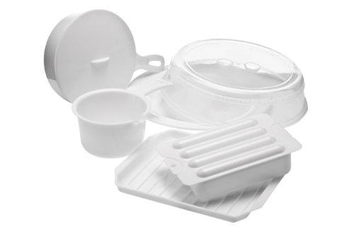 Premier Housewares Microwave Cookware Set, 5 Pieces - White