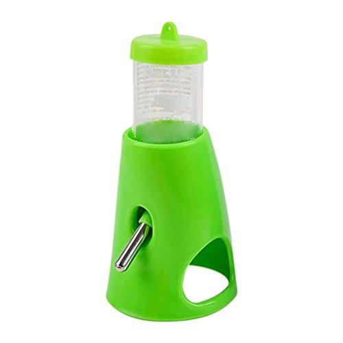 UEETEK Distributore d'acqua automatico per animali domestici Erogatore dell'acqua per coniglio e criceto in verde