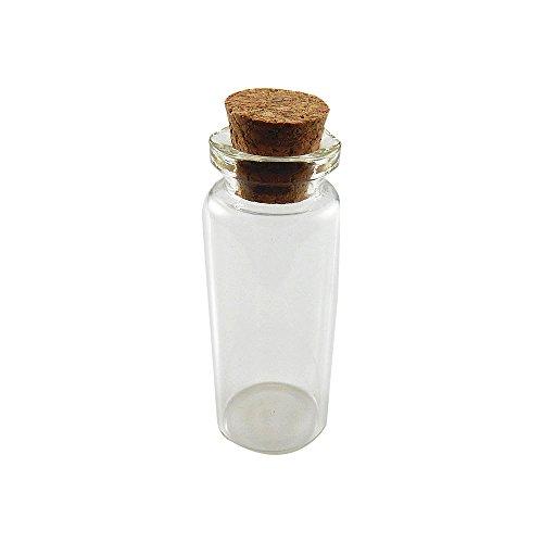 1,5 Ml Mini (Julie Wang 30er klein mini Glasflaschen Gläser mit Korkverschluss, leer Flaschen 12ml, Nachricht Hochzeiten Wish Schmuck Party)