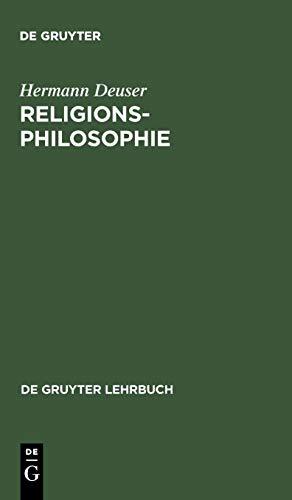 Religionsphilosophie (De Gruyter Lehrbuch)