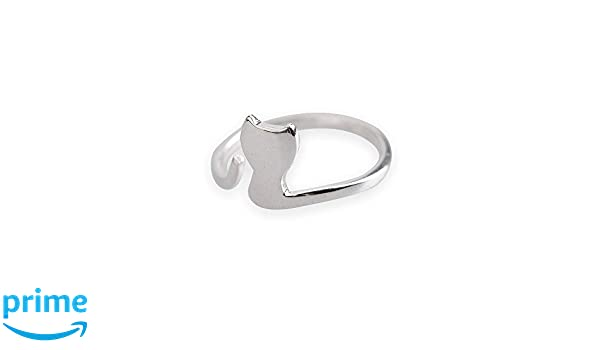 Silver Cat Adujustable Ring Pet Jewelry Kitten Ring