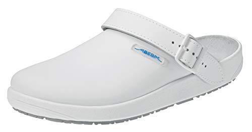 Abeba Clog 9200 - rubber Glattleder weiß, zertifiziert