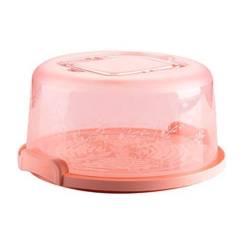 Niedliche tragbare runde Kuchen- / Dessertbox mit Griffverschluss, Aufbewahrungsbox, Rosa