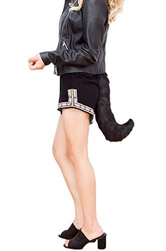 Runyue Halloween Kostüme Kunstpelz Fuchsschwanz Kann Schwanz Eingestellt -