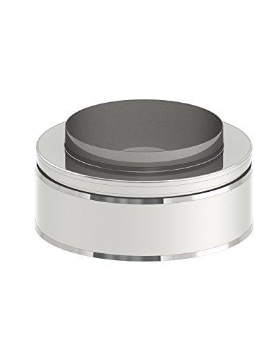 Mündungsabschluß für doppelwandige Schornsteine DW; Innen/Außen je 0,5 mm Wandstärke; Ø 180mm Innendurchmesser, Edelstahl