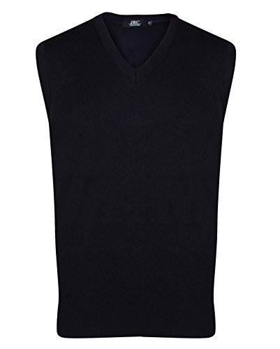 Huntadeal Mens Boys Sleeveless Stylish Plain Knitted Pullover V-Neck Knitwear Jumper Slipover Sweater Assorted Color Casual Sweater Sweatshirt Bodywarmer (Navy, Medium)