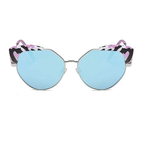 Brille Weibliche Sonnenbrille Rundes Gesicht Sternmodelle Persönlichkeit Polygonal Big Box Sonnenbrille Polarisiertes Licht Netz Rote Sonnenbrille (Farbe: D)