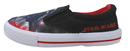 Star Wars Garçons Slip On Canvas de chaussures Vader and Stormtrooper Slip On