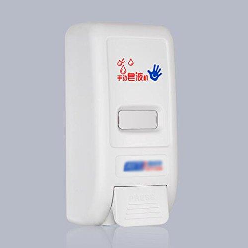 Cqq distributeur de savon Distributeur manuel mural spécial matériau plastique désinfectant pour les mains mousse mousse manuelle grande capacité sortie ( Couleur : Blanc )