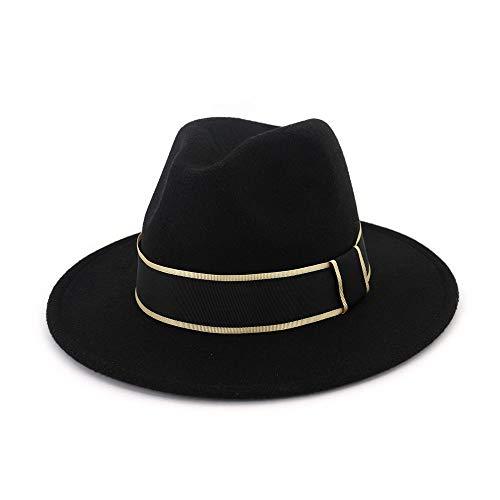 youjiu Zylinderhut weiblichen europäischen und amerikanischen Mode großen Gentleman @ Black_Adjustable