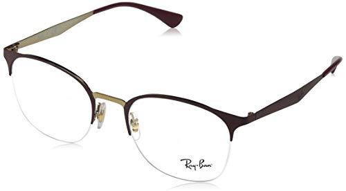 Ray-Ban Damen 0rx 6422 3007 49 Brillengestelle, Pink Gold On Top Matte Bordeaux