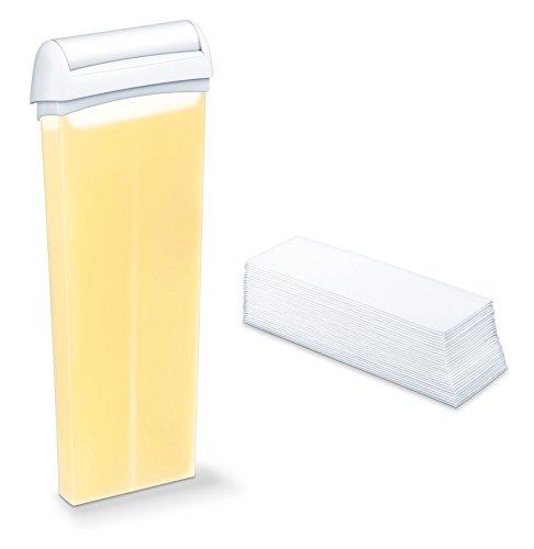 Elle by Beurer HLE 40 Kit de recharge  2 cartouches de cire d'abeille et 50 bandes en non-tissé