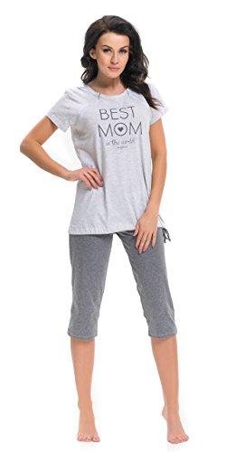 dn-nightwear - Ensemble de pyjama spécial grossesse - Femme Gris