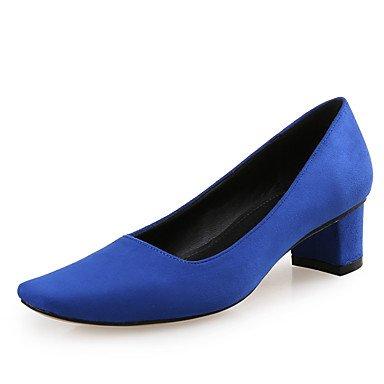 WSX&PLM Da donna-Tacchi-Tempo libero / Ufficio e lavoro / Formale / Casual / Serata e festa-Comoda-Quadrato-Di pelle / Felpato-Rosa / Grigio / royal blue