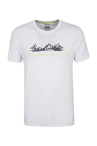 Mountain Warehouse Adventure is Free Herren-T-Shirt Weiß XX-Large (Mountain Xx-large T-shirt)