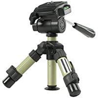 Professional Mini Photo & Video Camera Table Tripod ~ Superb Quality ~ Built In Spirit Level ~ 2 Level Tripod ~ 3-Way Head ~ Quick Release Plate ~ Made from Strong Aluminium ~ Includes FREE BAG