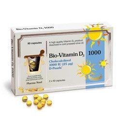 Bio Vitamin D3 Capsules 25mcg Pack of 80 by Pharma Nord UK Ltd