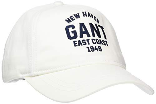 GANT Jungen D1. Twill Cap Kappe, Weiß (White 110), L