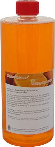 Orangenreiniger Konzentrat mit nat. Orangenöl der hochwirksame und kraftvolle Allzweckreiniger 1 Liter von Mastercleaner - Hochwirksames Konzentrat