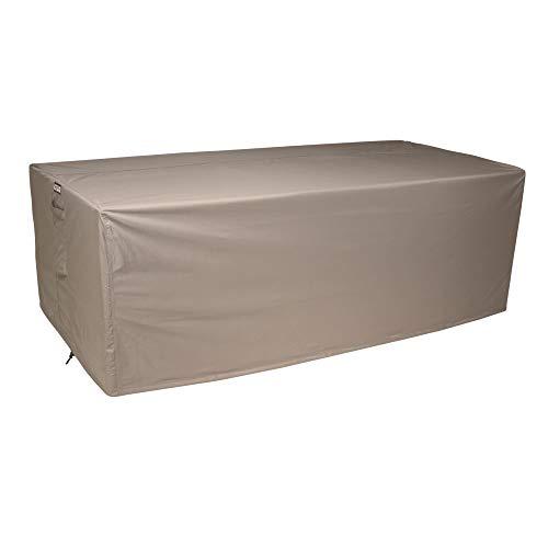 Raffles Covers NW-RLB210straight Schutzhülle Lounge Sofa 210 x 100 H: 75 cm Loungesofa Abdeckung, Schutzhülle für Gartensofa, Wetterschutz für Rattan Garten Lounge