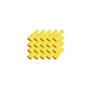 Flachsteckhülsen vollisoliert gelb 4-6 mm 6,3 x 0,8 mm 50x Flachsteckhülse Crimpzange Flachstecker Crimp Zange Flach Stecker Kabelschuhe kfz ARLI