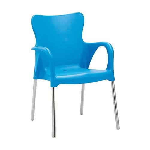 Best Maui Chaise empilable Argent/Bleu