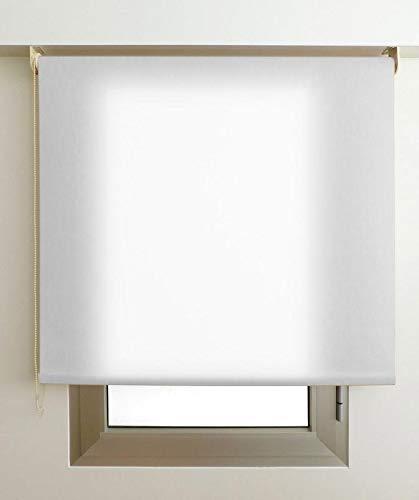 Estor Luminoso Elite (Desde 40 hasta 300cm de Ancho) Permite Paso de Mucha luz, no Permite Ver el Exterior/Interior. Color Blanco. Medida 146cm x 200cm para Ventanas y Puertas