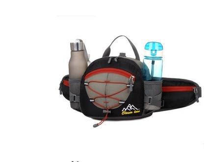 Zll/Sport all' aperto da viaggio borsa tracolla Slung Corsa Portatile Zaino da escursionismo, arancione nero