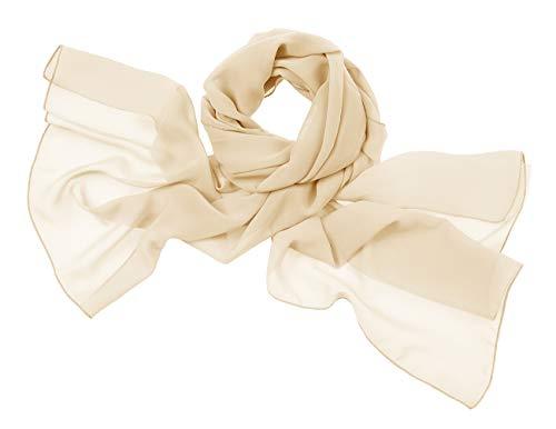 bridesmay Chiffon Stola Schal Scarves für Kleider in Verschiedenen Farben Champagne M