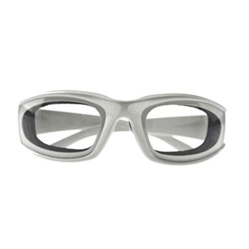 BESTONZON Zwiebelbrille Küche Schutzbrille Augen Protector für Zwiebel schneiden (weiß)
