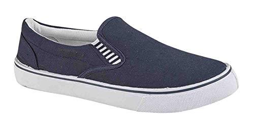 Unisex superligera Lienzo Zapatos Náuticos, Yate Zapatos Azul Marino Tallas 3-13uk - Azul marino, 6...