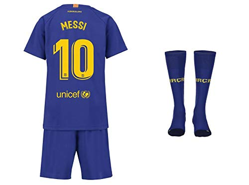 FC Barcelona Messi Trikot Kinder Home 18/19 - Trikotsatz - Günstig - Fußball Shorts - Replica - Fussball Trikot Kaufen - Fußballbekleidung - Fussball (128)