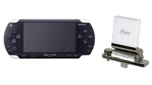 PlayStation Portable - PSP Konsole Slim&Lite Piano Black (Go!Explore GPS-Empfänger & KFZ-Zubehör Bundle)